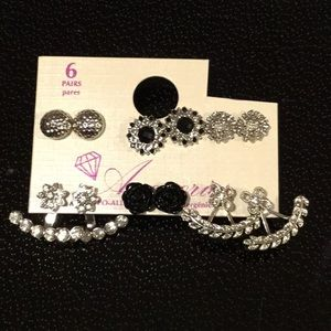 Jewelry - 6 Pack Of Silver Earrings, Gorgeous!!!